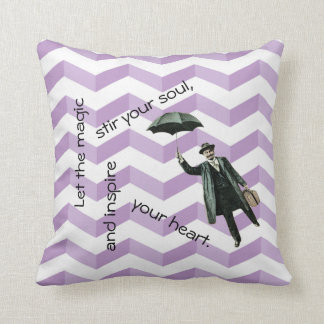 Almofada travesseiro inspirado das vigas 3D com homem de