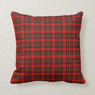 Almofada Travesseiro liso do Natal da xadrez