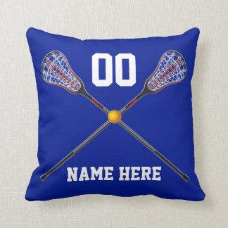 Almofada Travesseiro personalizado do Lacrosse seus texto e