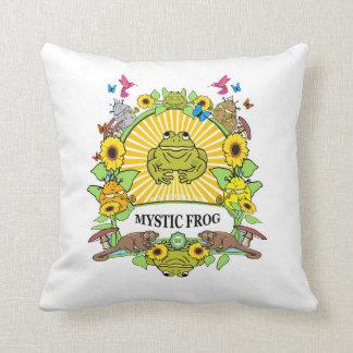 Almofada travesseiro quadrado - poder de Munchi! - Logotipo