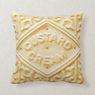 Almofada travesseiro retro de creme do coxim do biscoito do