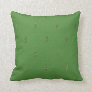 Almofada Travesseiro reversível do algodão verde dos