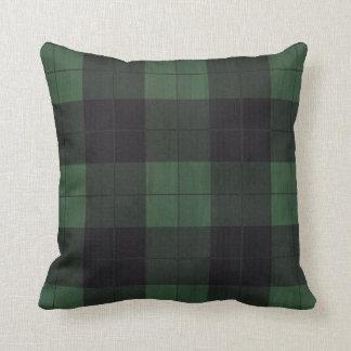 Almofada Travesseiro rústico do país preto verde do inverno