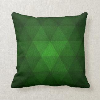 Almofada Travesseiro verde abstrato dos triângulos