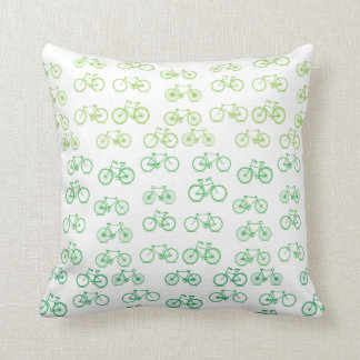 Almofada Travesseiro verde das bicicletas