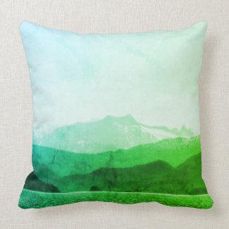 Almofada Travesseiro verde das montanhas
