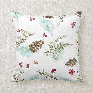 Almofada Travesseiro verde do inverno
