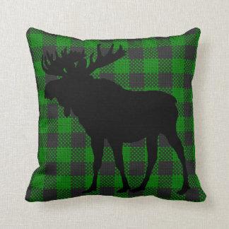 Almofada Travesseiro verde e preto dos alces