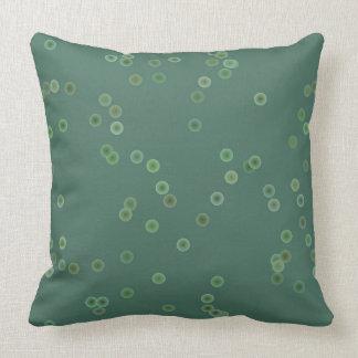 Almofada Travesseiro verde empoeirado das bolinhas