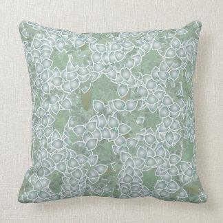 Almofada Travesseiro verde empoeirado das folhas