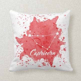 Almofada Travesseiro vermelho do Capricórnio