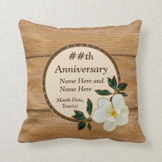 Almofada Travesseiros personalizados do aniversário da