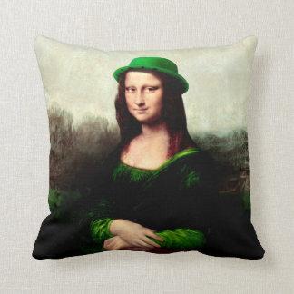 Almofada Trevo afortunado do Dia de São Patrício de Mona