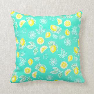 Almofada Verde da hortelã das frutas dos limões do amarelo