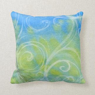 Almofada Videiras azuis e verdes bonito no travesseiro