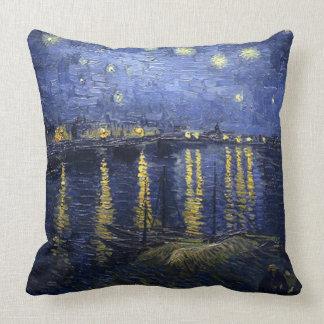 Almofada Vincent camionete Gogh-Estrelado Noite sobre o