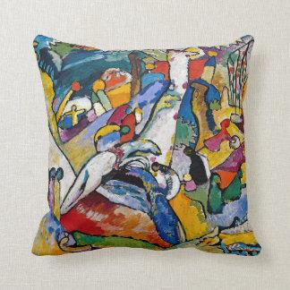 Almofada Wassily Kandinsky - arte abstracta da composição