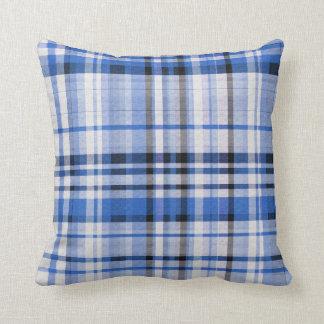 Almofada Xadrez azul