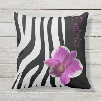 Almofada Zebra/Orquídea