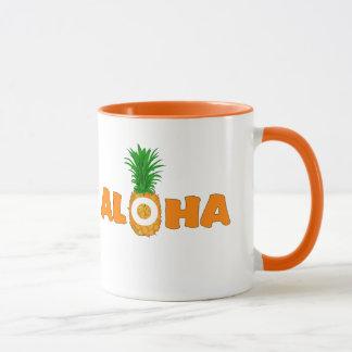Aloha abacaxi - caneca de café havaiana