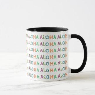 """""""Aloha"""" caneca do impressão do azulejo"""