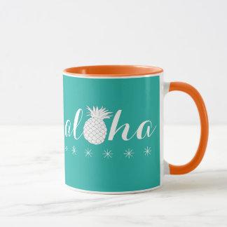 Aloha com um abacaxi - caneca de café