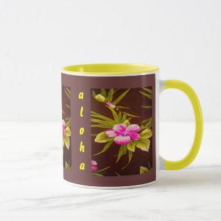 Aloha design floral tropical caneca