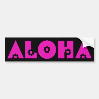 Aloha em flores cor-de-rosa adesivo para carro