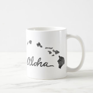 Aloha ilha afligida caneca de café