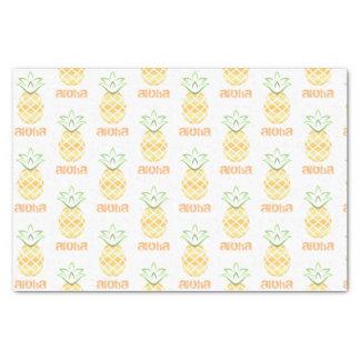 Aloha lenço de papel do abacaxi de Havaí -