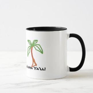 Aloha você caneca da palmeira
