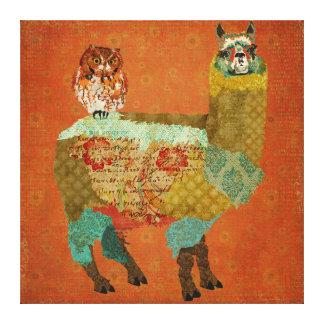 Alpaca do ouro canvas ambarinas da coruja