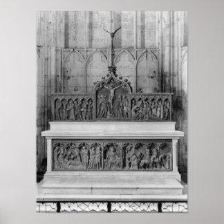 Altar e dois altarpieces decorados poster