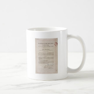 Alteração da proibição 18a caneca de café