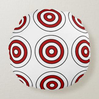 Alvo redondo do teste padrão do travesseiro almofada redonda