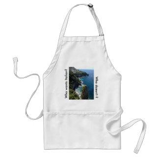 Amalfi, costa, avental, italiano, cozinheiro, avental