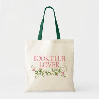 Amante bonito do clube de leitura sacola tote budget