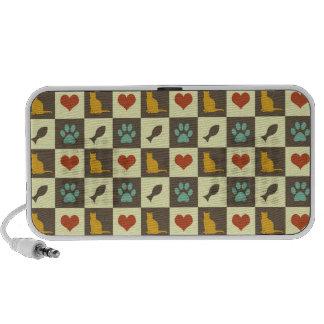 Amante checkered do animal de estimação do teste p caixinha de som para iPod