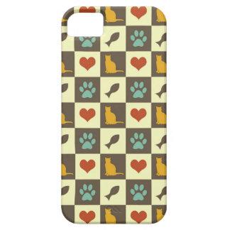 Amante checkered do animal de estimação do teste p iPhone 5 capas