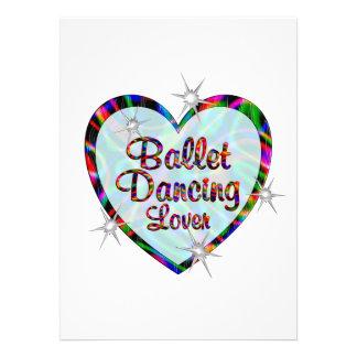 Amante do balé convite personalizados