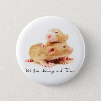 Amante do rato sempre e para sempre bóton redondo 5.08cm