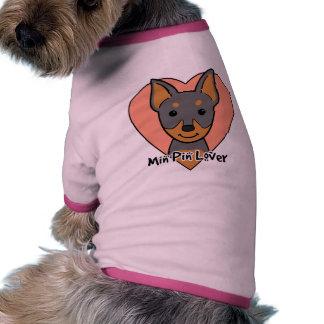 Amante mínimo do Pin Roupas Para Cães