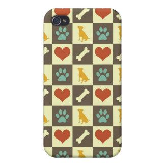 Amante pern checkered do animal de estimação do os capa iPhone 4