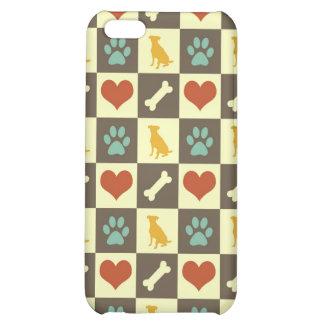 Amante pern checkered do animal de estimação do os capa iphone 5C