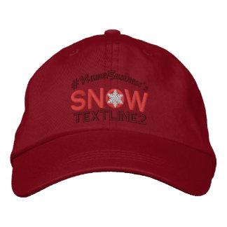 Amantes bordados neve personalizados vermelhos boné