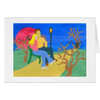 Amantes no Central Park Cartão Comemorativo
