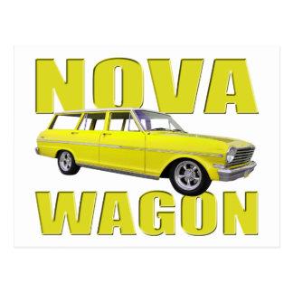 amarelo 1963 chevy do vagão II da nova Cartão Postal