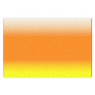 Amarelo alaranjado branco do inclinação de Ombre Papel De Seda
