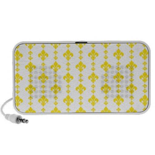 Amarelo da flor de lis 3 caixinhas de som para laptop