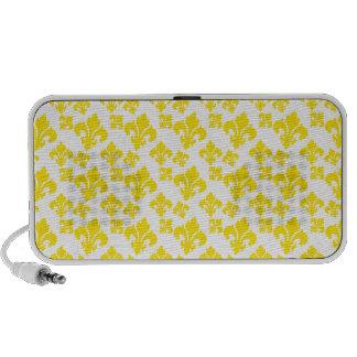 Amarelo da flor de lis 4 caixinhas de som para laptop